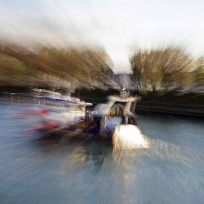 22-Trouville-sur-Mer. Bateau de pêche. TIRAGE 1/1 DISPONIBLE