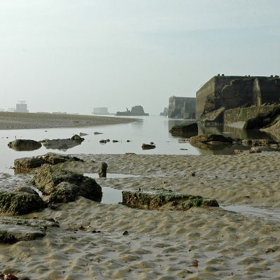 Arromanches les bains (2) sables de feu. Tirage disponible