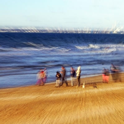 5-Trouville-sur-Mer. La plage. TIRAGE 1/1  DISPONIBLE