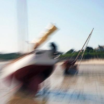 Bateaux sur le plage de Landunvez (1)
