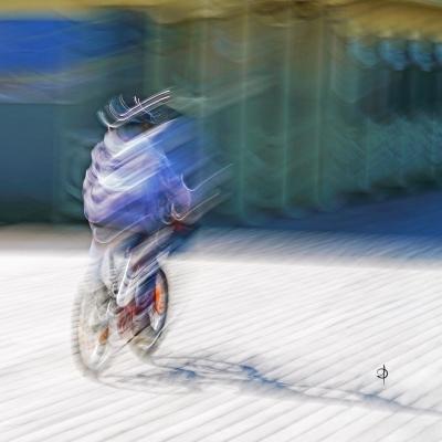 Deauville. Le cycliste. Tirage unique disponible