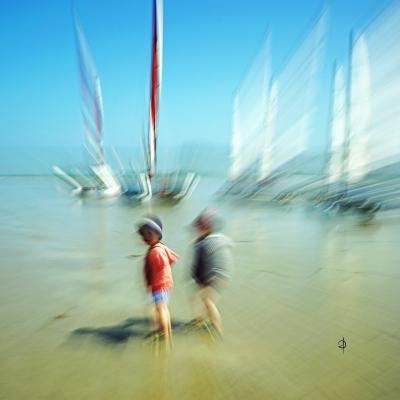 Les jumeaux à la mer (2)