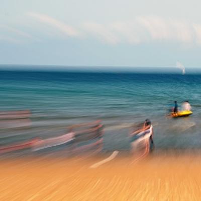 Sirène sur la plage. Tirage unique