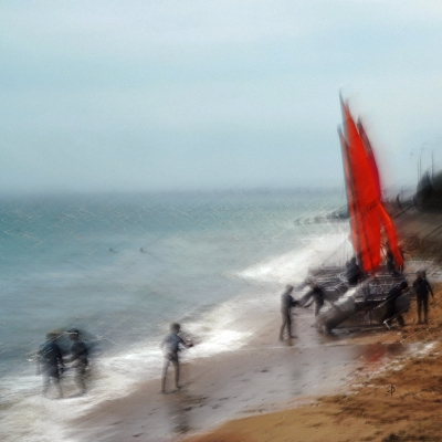 Luc sur Mer. Voiles rouge (2)